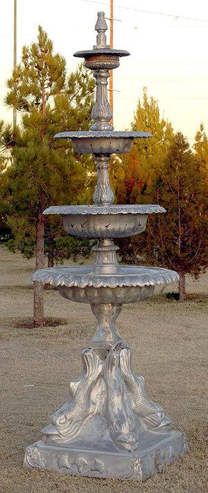 4 Tier Fish Fountain-H.8'