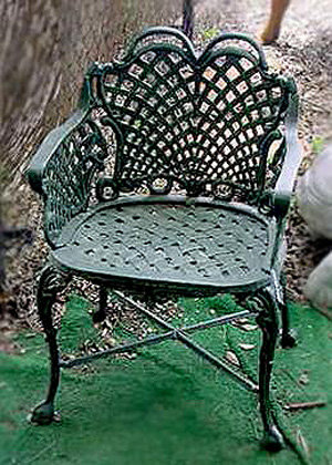 Wide Basket Weave Chair