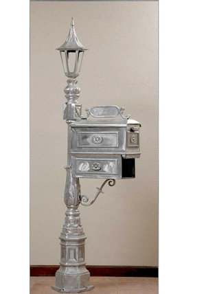 """Ames Mailbox with Paper Holder and Small Holland Top-H: 5'9"""""""