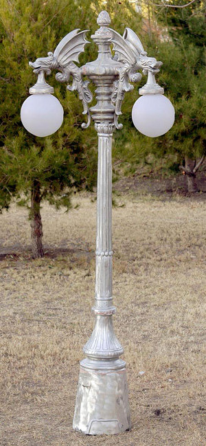 """Gargoyle Lamp, 4 Arm 4 Light-H.9' 5"""""""