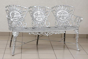 Sun Face Bench,Triple
