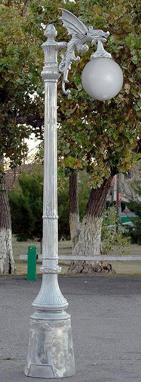 Gargoyle Lamp, 1 Arm-H.8'