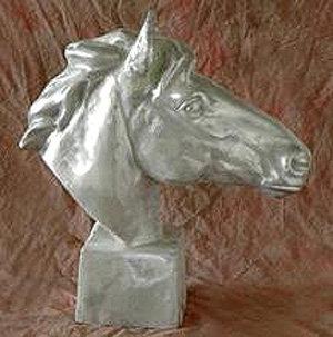 Horse Head on Base