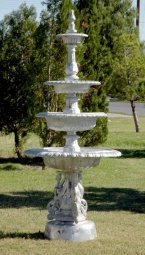 4 Tier Fountain with New Swan Base