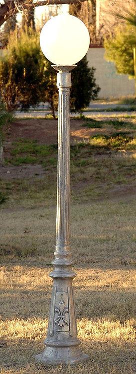 "Vienna Lamp, Single-Ht:6'  13"" Base"