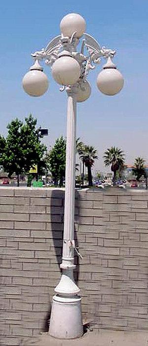 "Gargoyle Lamp 4 Arm 5 Light, Tall-H.11' 2"""