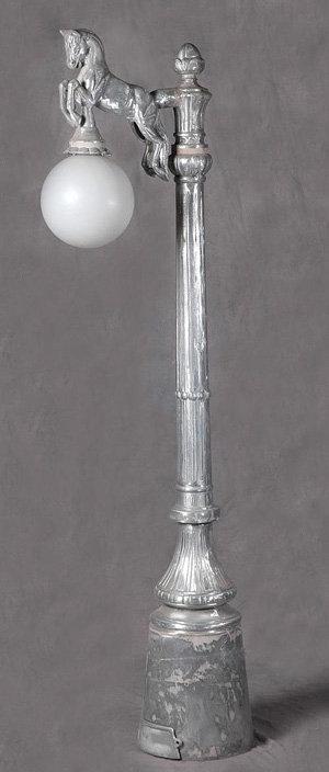 Horse Lamp, 1 Arm-H. 8'