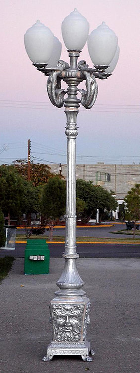 """Mermaid Lamp Lights Up on Poseidon Post 4 Arm 5 Light-H.10"""""""