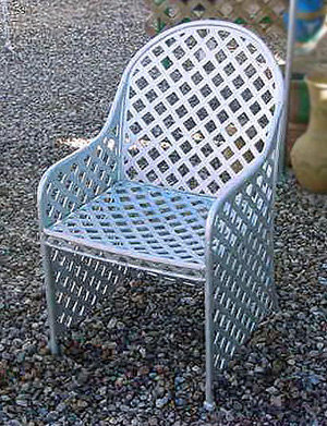 Basket Weave Skirted Chair