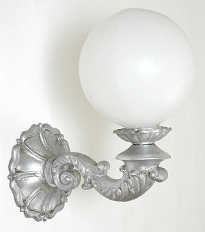 Scroll Arm Sconce w/ Clover Back