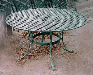 """Crossweave Table, Small Round-D:42"""""""
