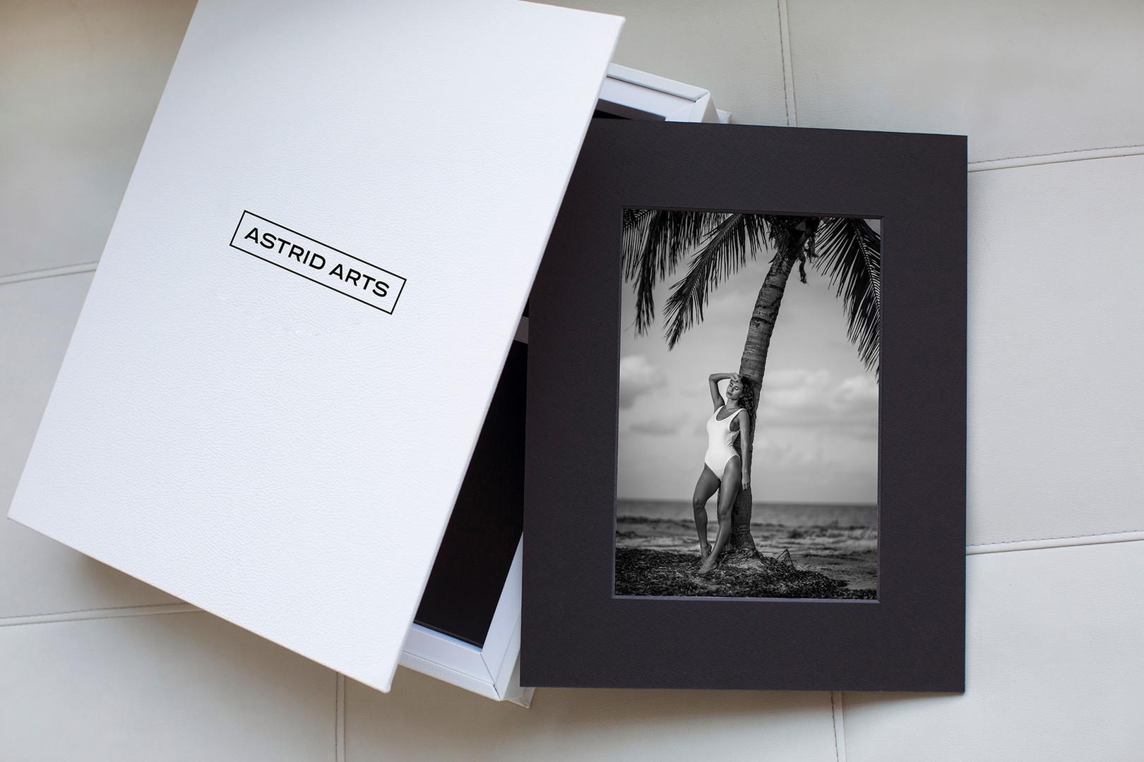 Luxury Boudoir Photography Folio Box with prints