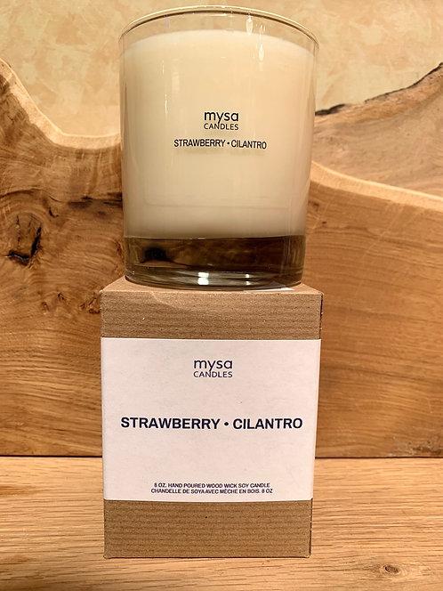Strawberry Cilantro Glass Candle
