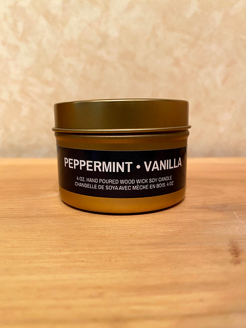 Mysa Peppermint Vanilla Tin Candle