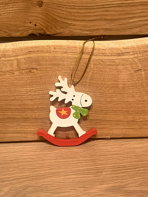 Rocking Reindeer with Bow