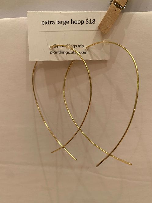 planThings Earrings Extra Large Hoop