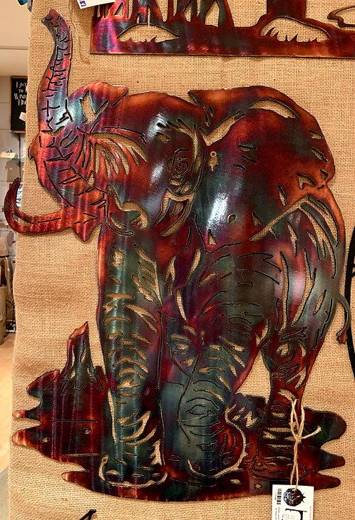 Steel Art Silhouettes Elephant Acid