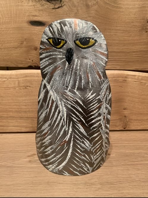 Steel Your Art Away Small Snow Owls