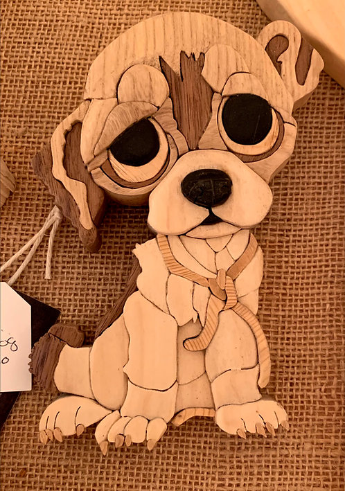 Harold's Intarsia Small Sad Dog