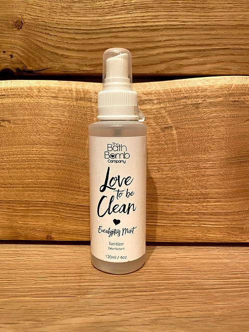 Love To Be Clean Sanitizer Spray Eucalyptus Mint 120ml