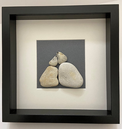 Pebble Art By Denise Polar Bear and Cub