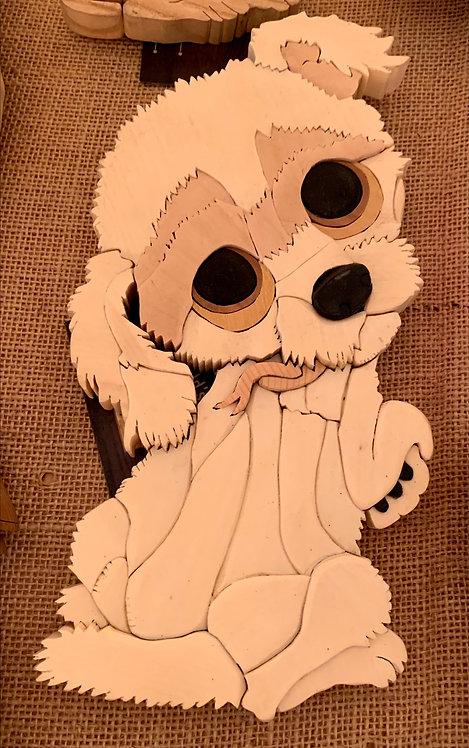 Harold's Intarsia Large White Dog