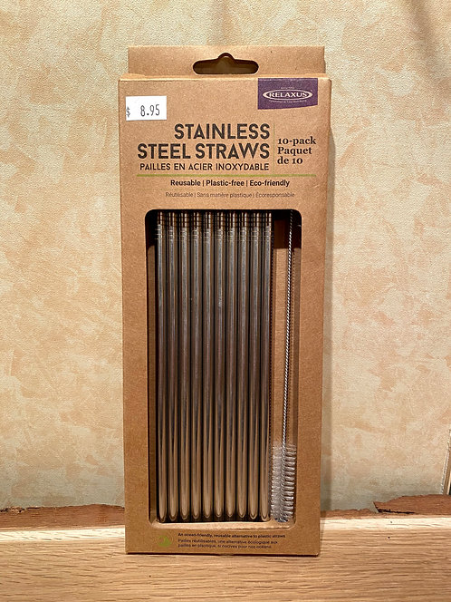 Steel Straw 10 Pack