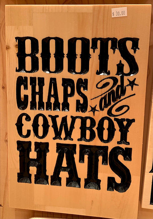 Two Old Farts Boots, Chaps, and Cowboy Hats