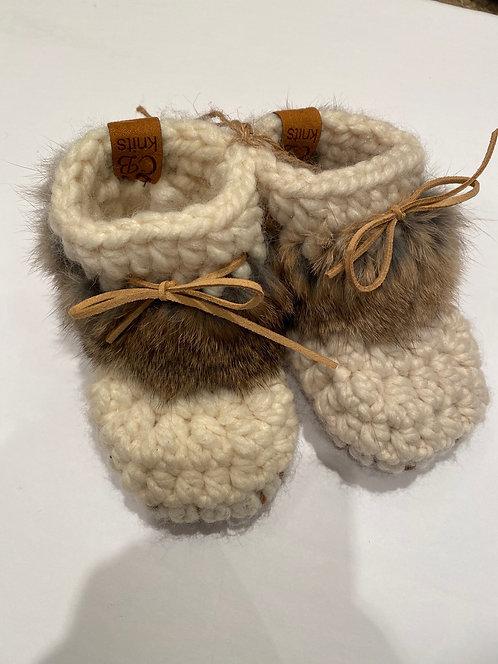 CB Knits Baby Slipper 12-18 Fur