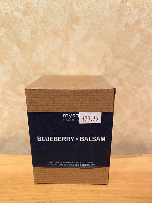 Mysa Blueberry Balsam Glass Candle