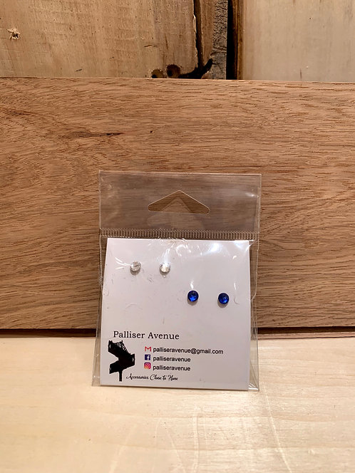 Palliser Avenue Swarovski Crystal Stud Earrings 2 Pack