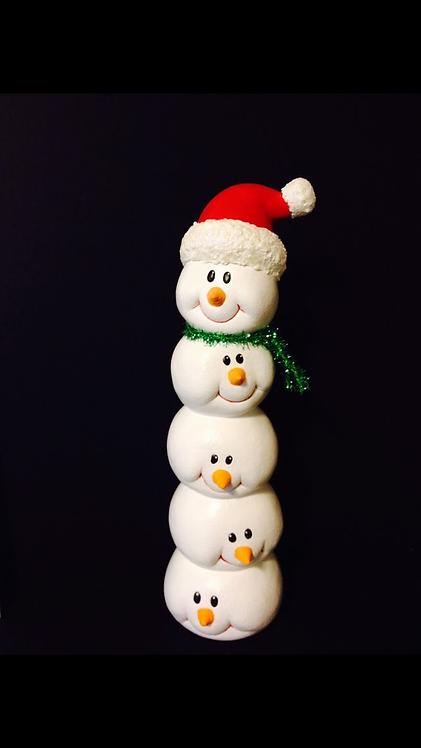 Debbie Brand Tall Snowman Stack