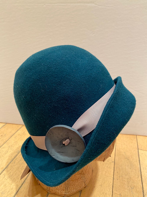MLHS M02 teal with large teal button hat