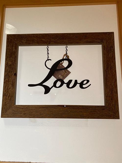 Nature's Touch Frames SK32 Barnwood Framed Love