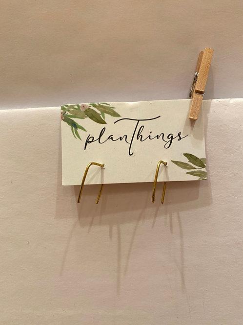 planThings Earrings Mini