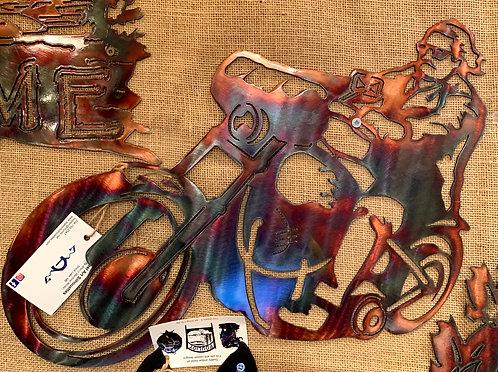 Steel Art Silhouettes Biker Dude