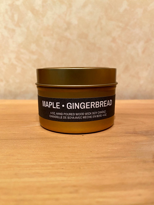 Mysa Maple Gingerbread Tin Candle