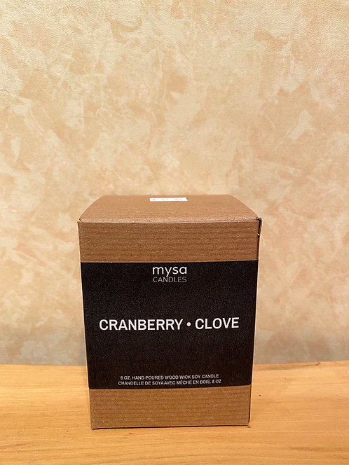 Mysa Cranberry Clove Glass Candle
