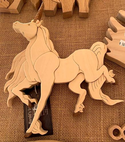 Harold's Intarsia Unicorn Trotting