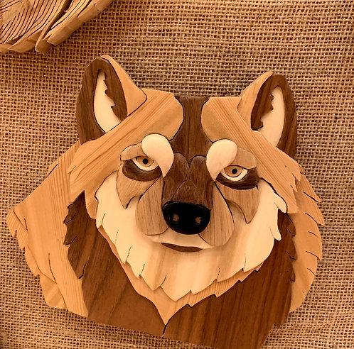 Harold's Intarsia Wolf Head
