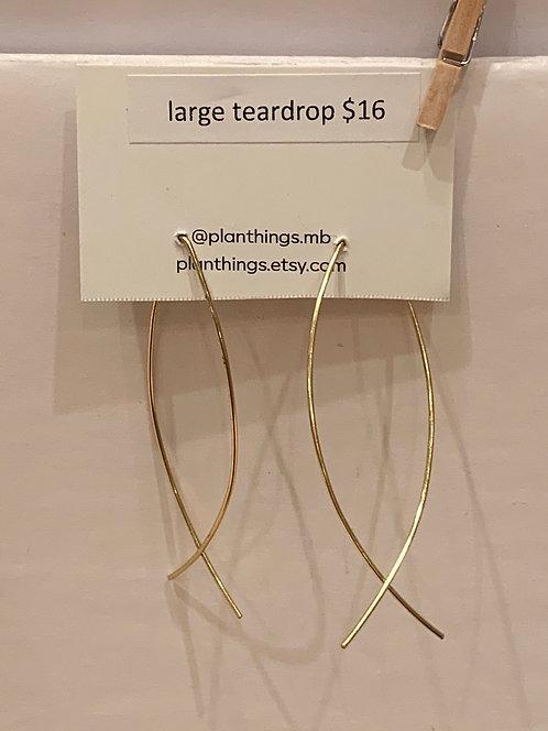 planThings Earrings Large Teardrop