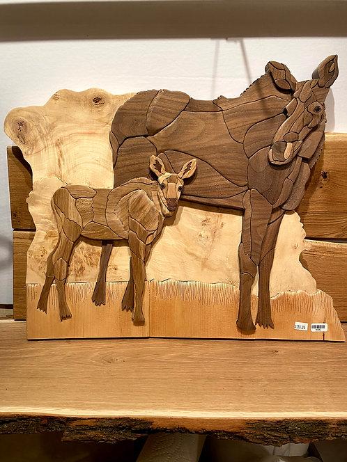 Harold's Intarsia Elk and baby