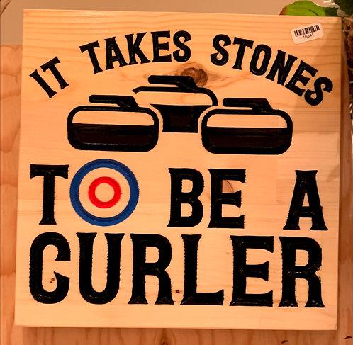 It takes stones