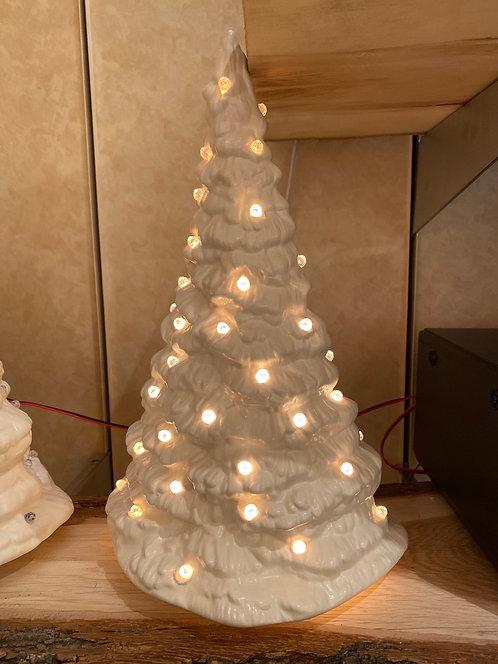 Small White Slim Tree