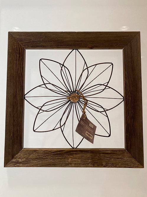 Nature's Touch Frames SK29 Barnwood Frame Flower w/ Bling