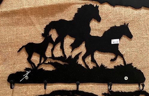 Steel Art Silhouettes Key 3 Running Horse