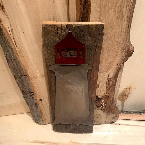 Iron age welding Lighthouse on Wood