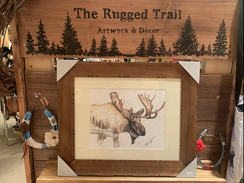 The Rugged Trail Art Print Framed