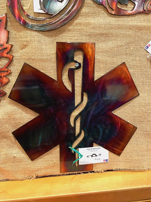Steel Art Silhouettes EMS Star Of Life Acid