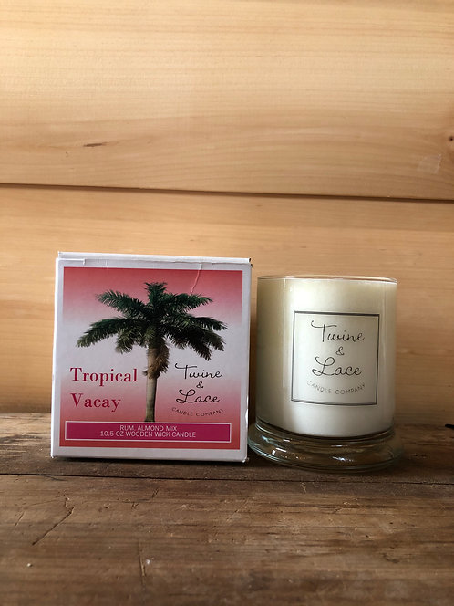 Twine & Lace Glass Candle Tropical Vacay